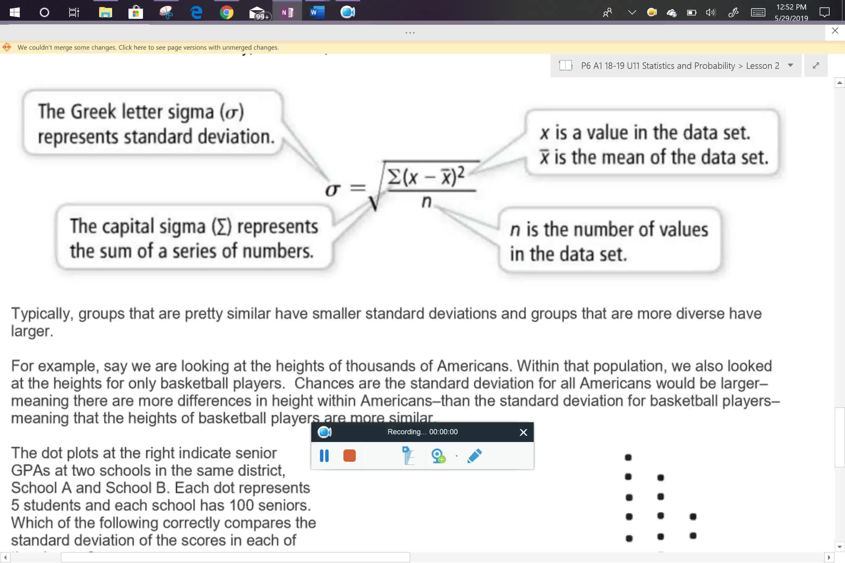 A1 U11L2 standard deviation notes