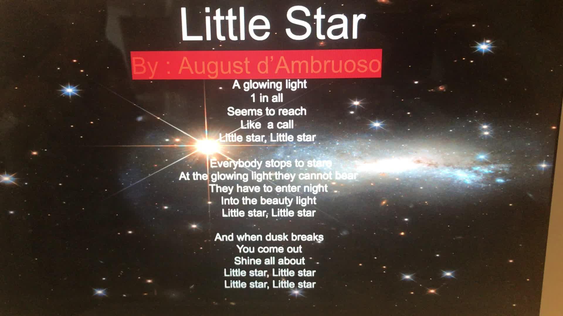 Poetry Slam 3rd Grade AD