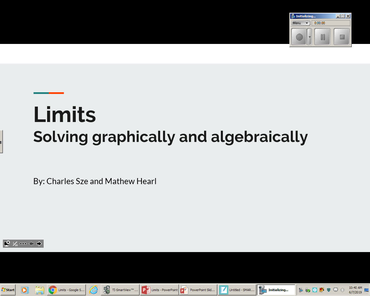Limits - Algebraic/Numeric/Graphic