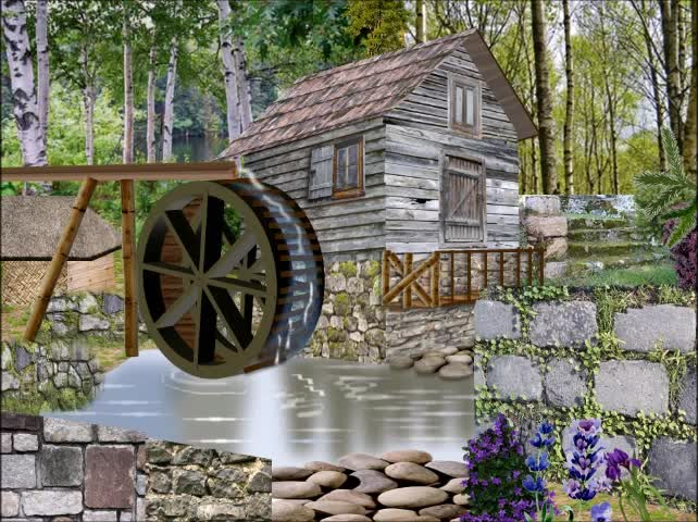 Illustration Using PowerPoint | Old Watermill | Inspiration for Creative PowerPoint |