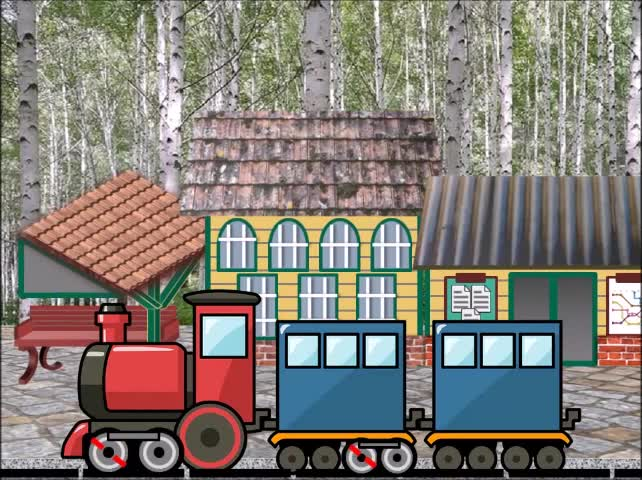 Animated Illustration | Train Arriving At The Station | Creative PowerPoint |