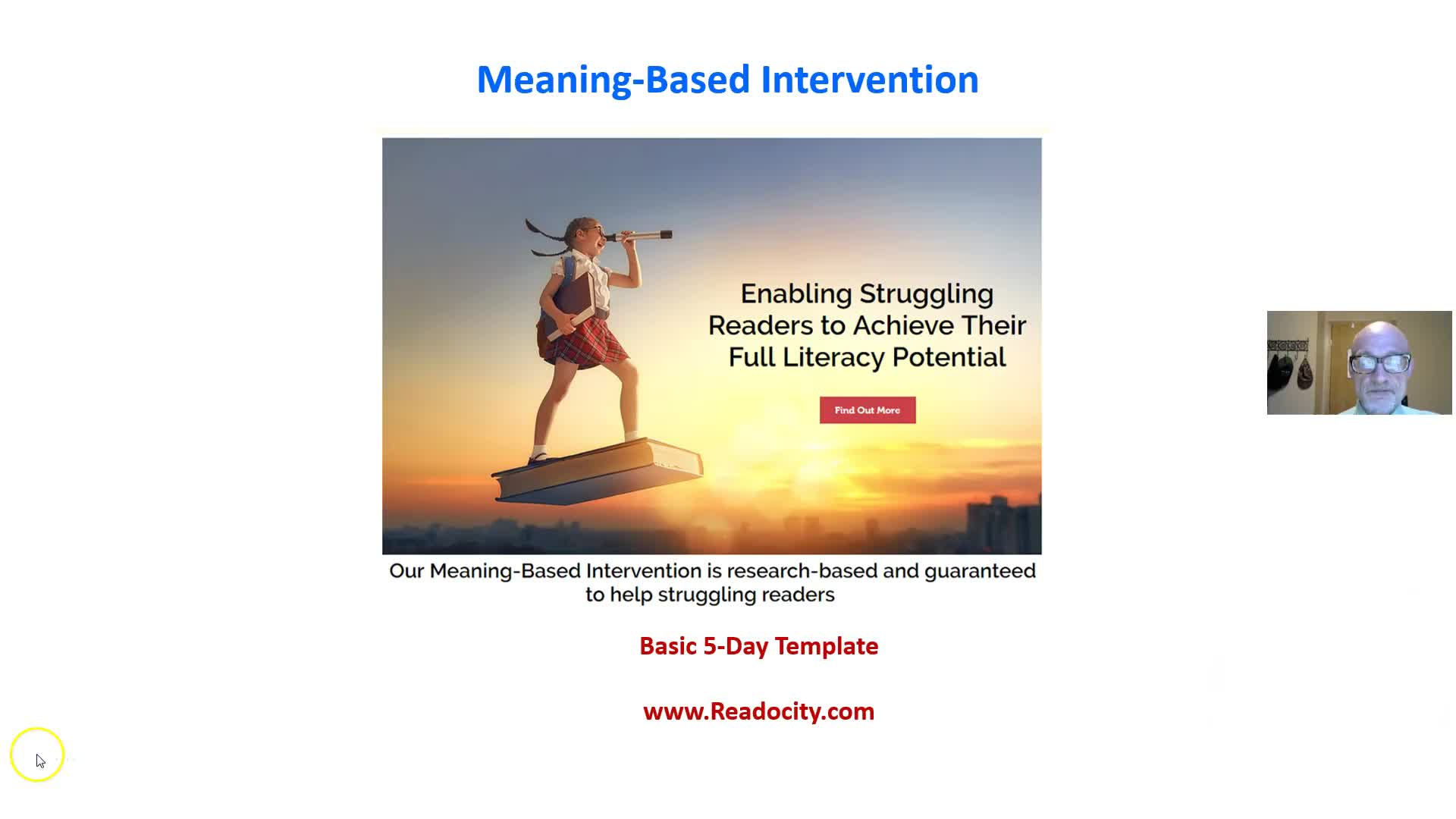 TEMPLATE FOR BASIC 5-DAY READING INTERVENTION