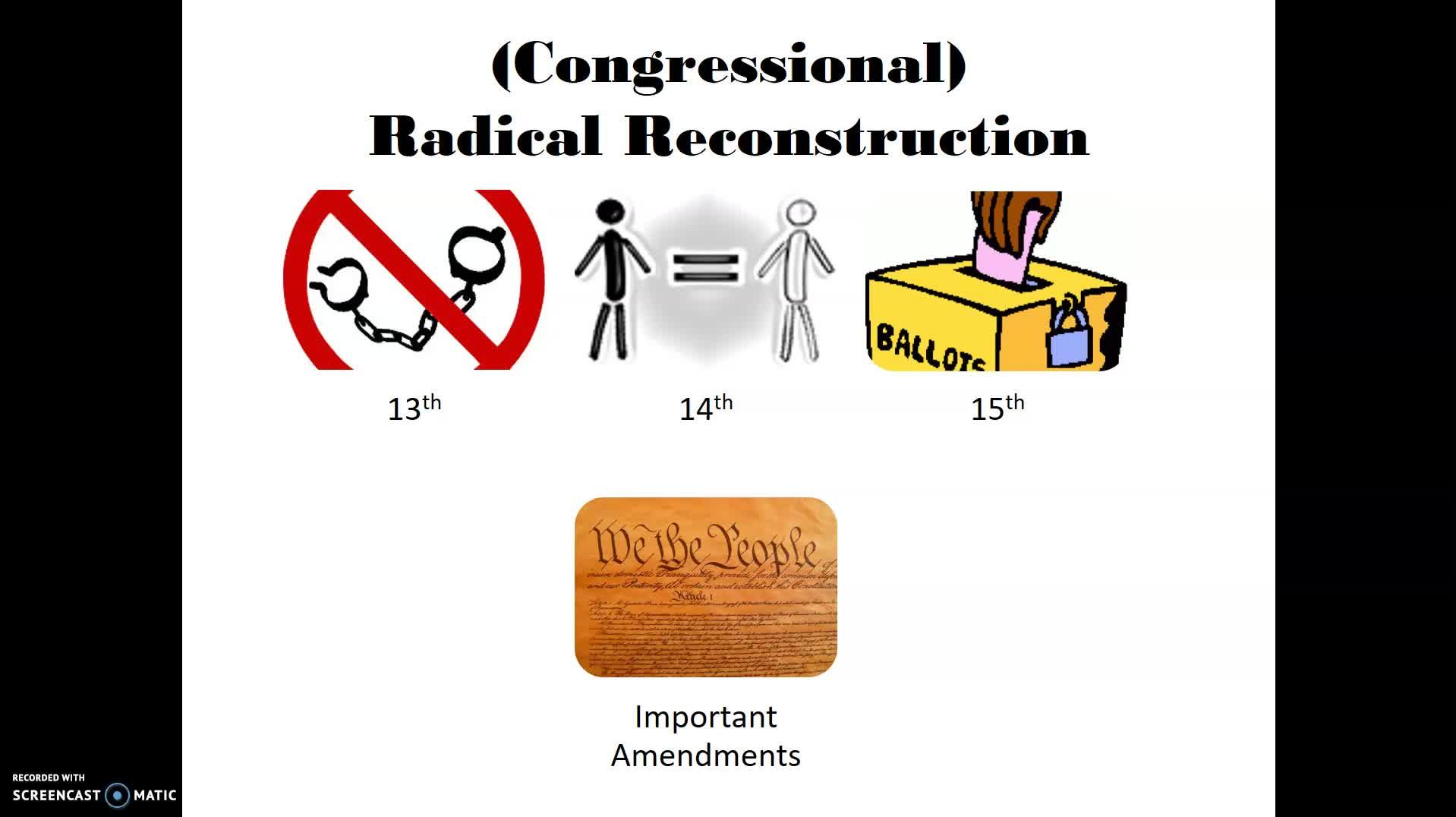 Reconstruction Part 1