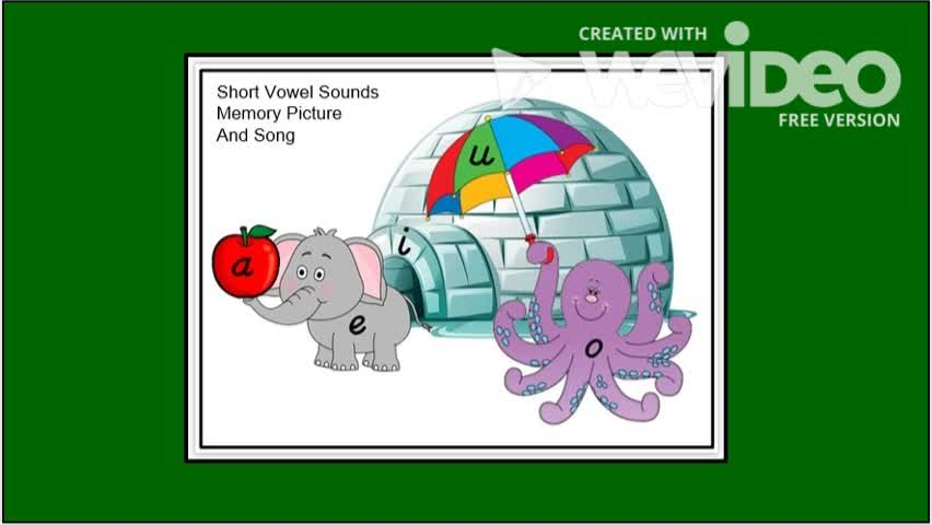 Short Vowel Sounds Memory Picture and Song
