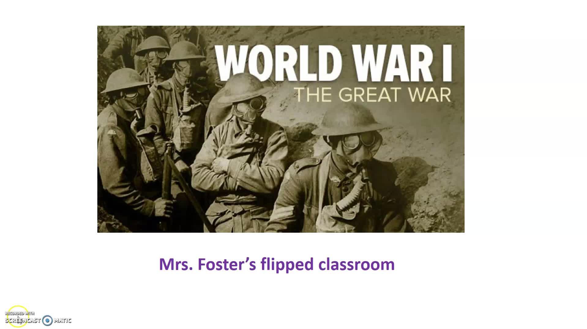 World War I flipped classroom