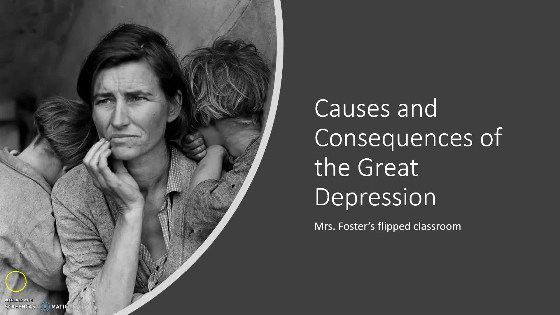 Causes and Consequences of the Great Depression