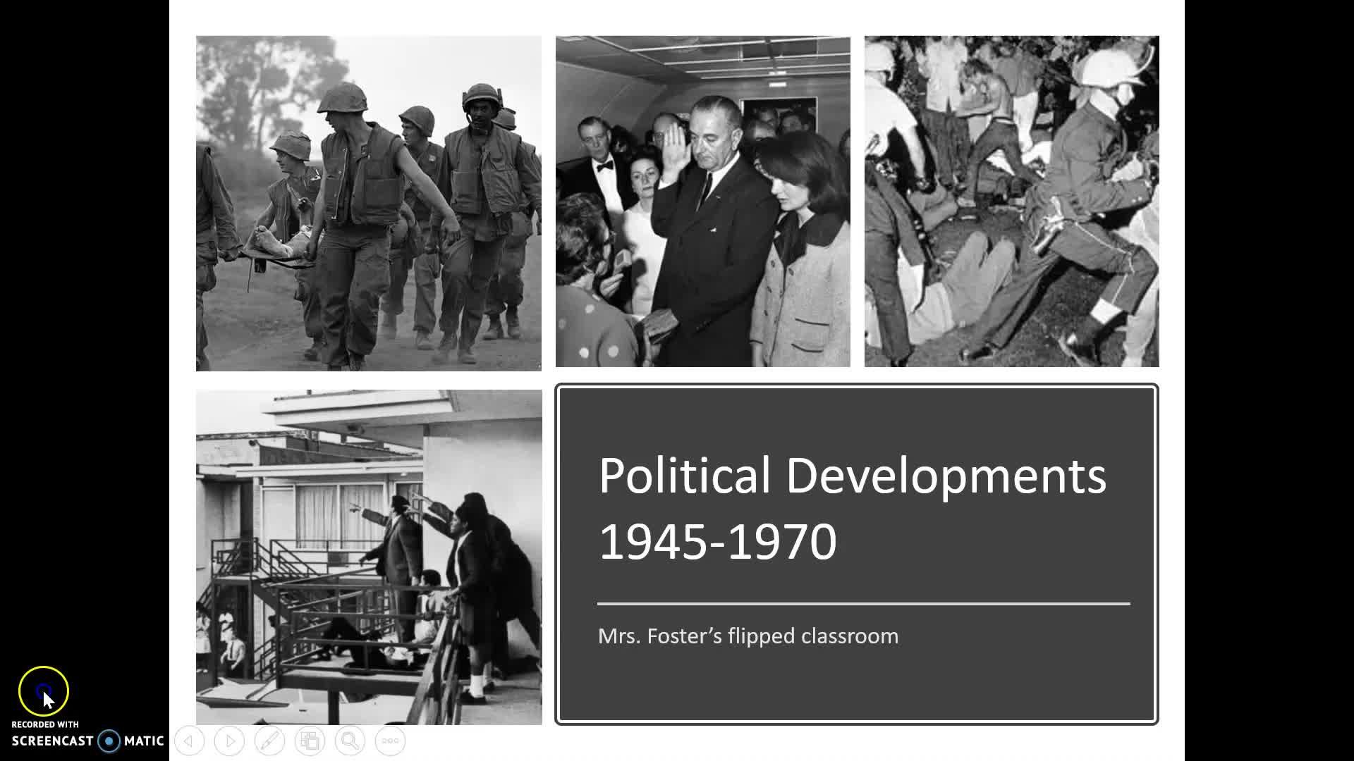 Political developments 1945-1970 flipped classroom