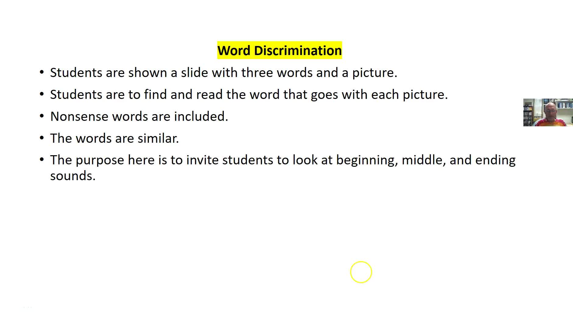WORD DISCRIMINATION FOR WORD IDENTIFICATION