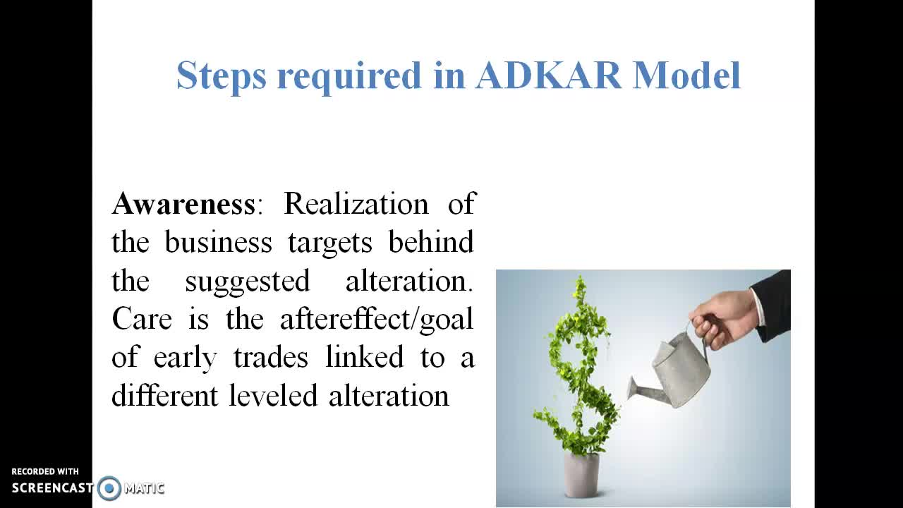 Steps required in ADKAR Model | Online Course | Udemy