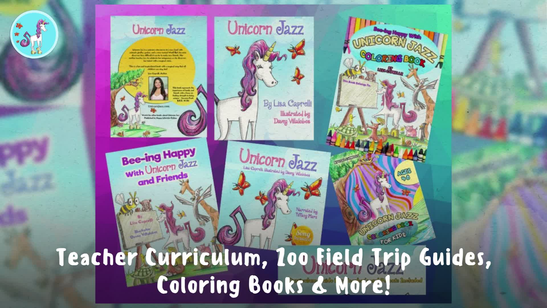 Unicorn Jazz Children's book includes Social Emotional Learning