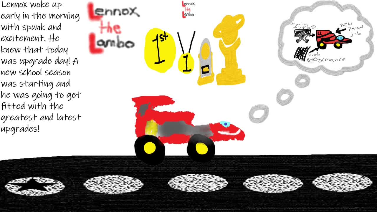 Lennox the Lambo-Back to School