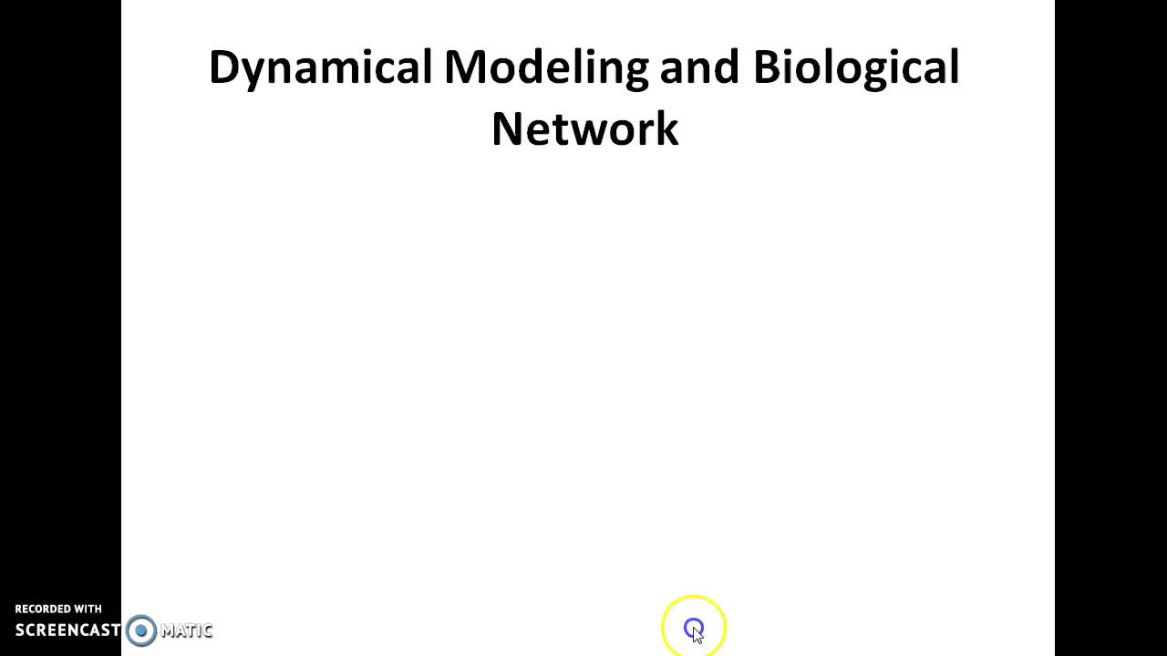 Dynamical Modeling and Biological Network | Online Course | Udemy