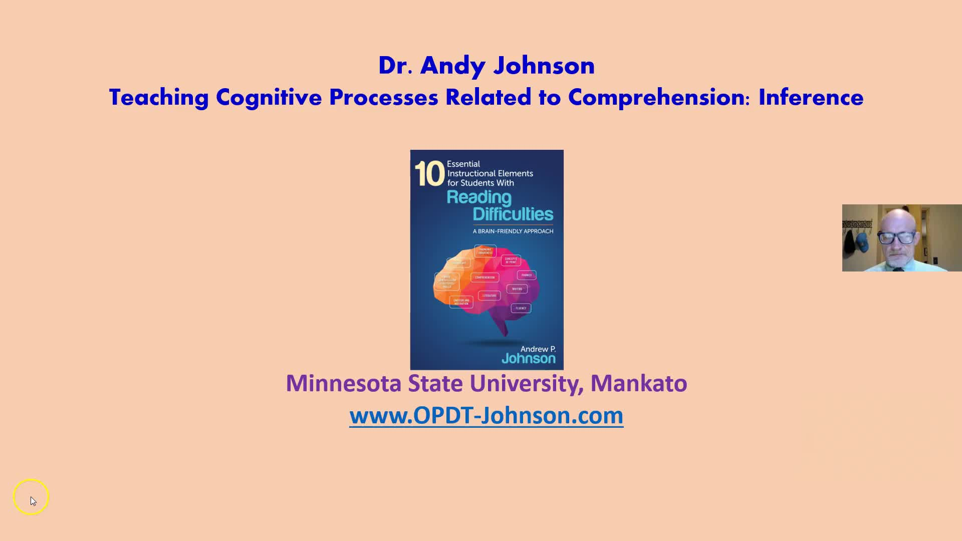TEACHING COGNITIVE PROCESSES RELATED TO COMPREHENSION: COMPREHENSION