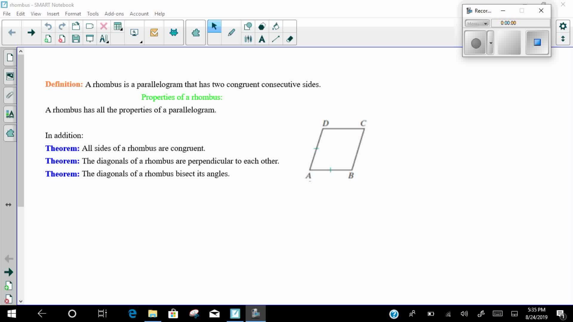Mays Math Rhombi