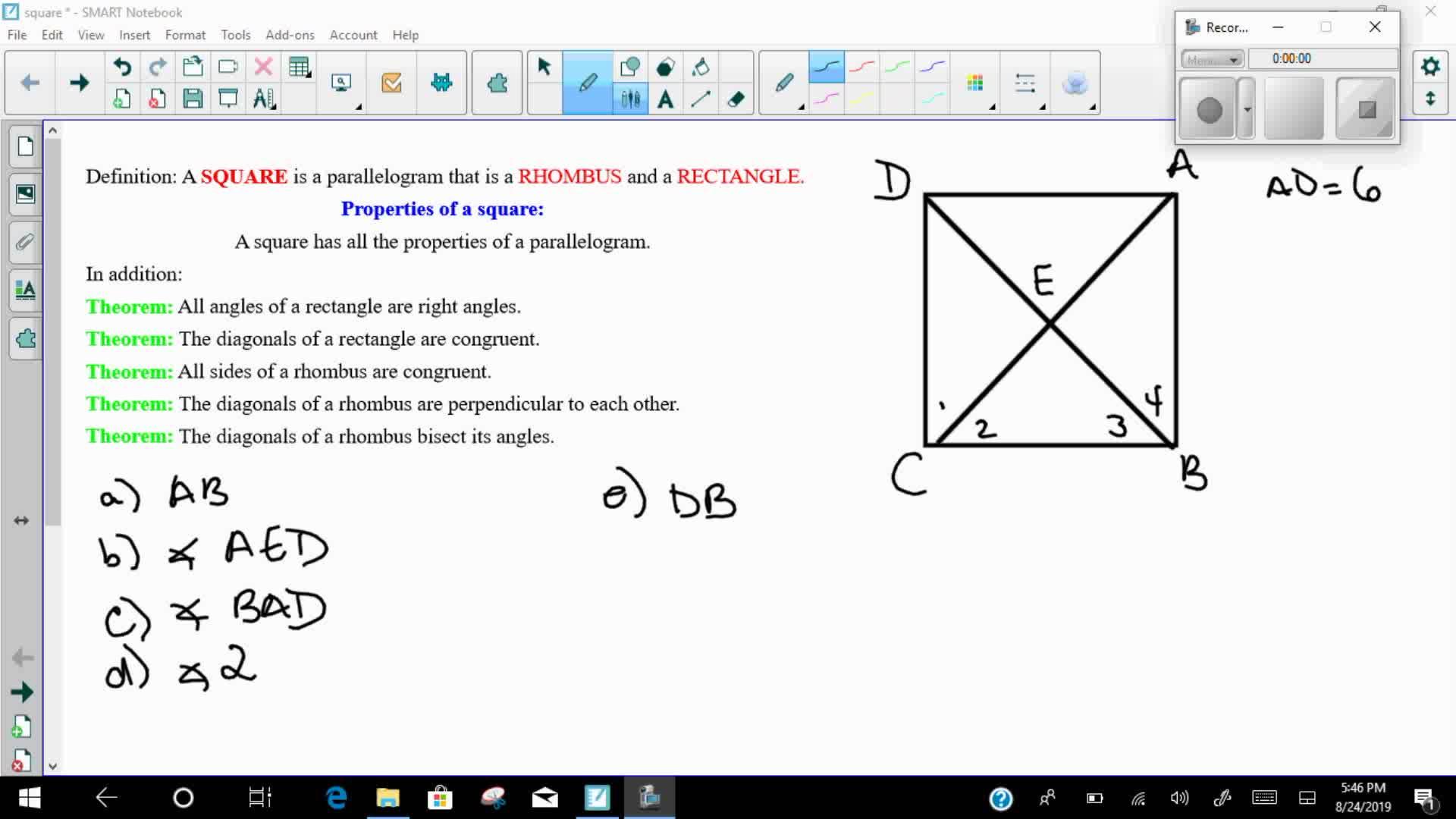 Mays Math Squares