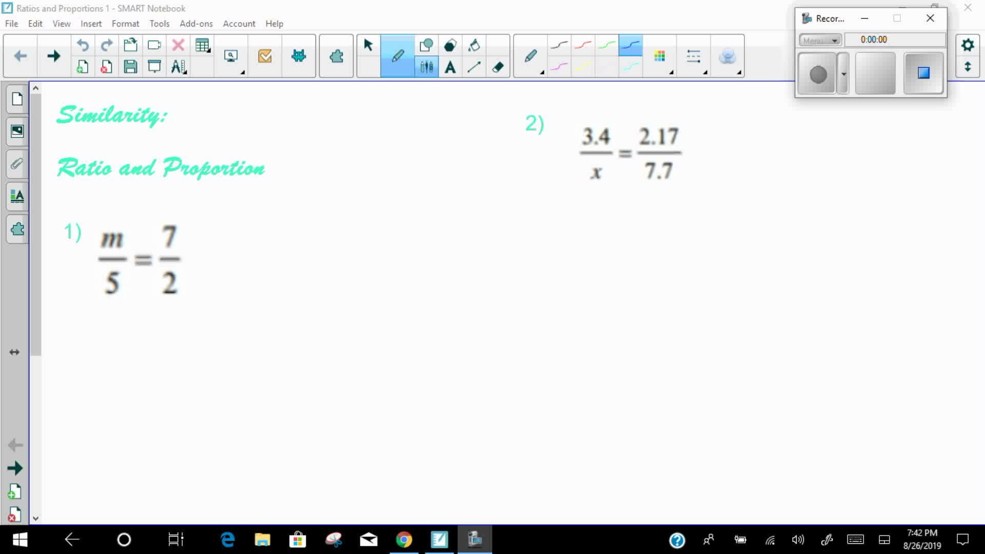 Mays Math Ratios and Proportions 1