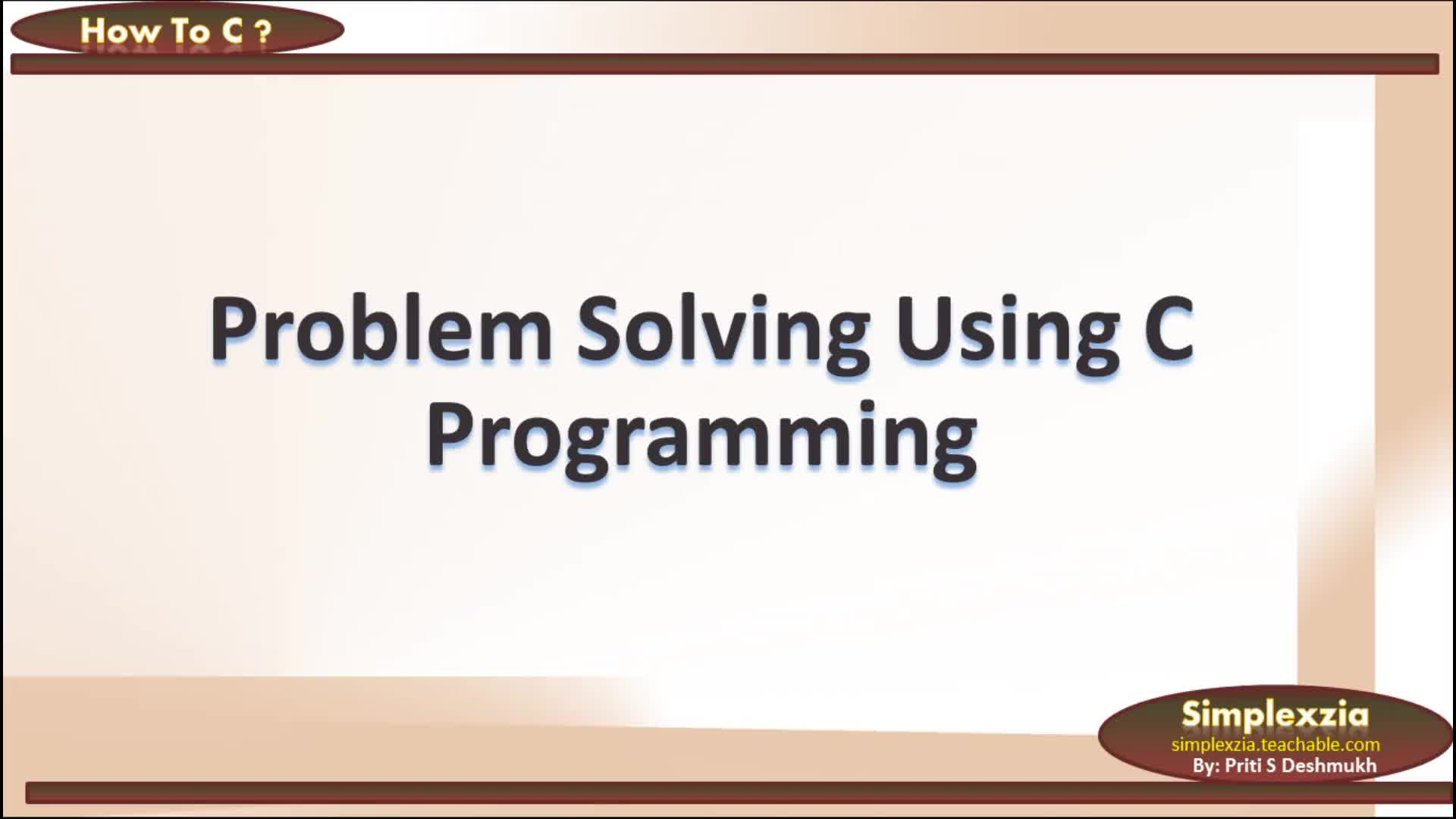 How to solve problem Using C Programming
