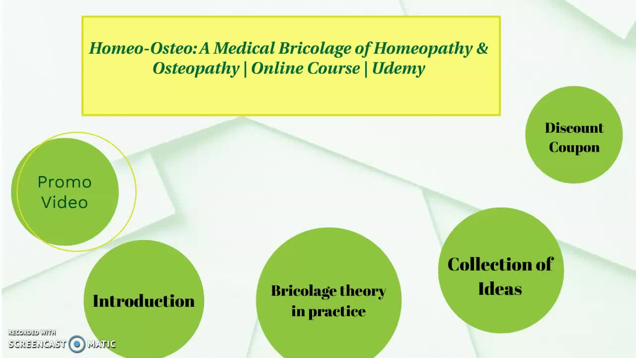 Homeo-Osteo: A Medical Bricolage of Homeopathy & Osteopathy | Online Course | Udemy