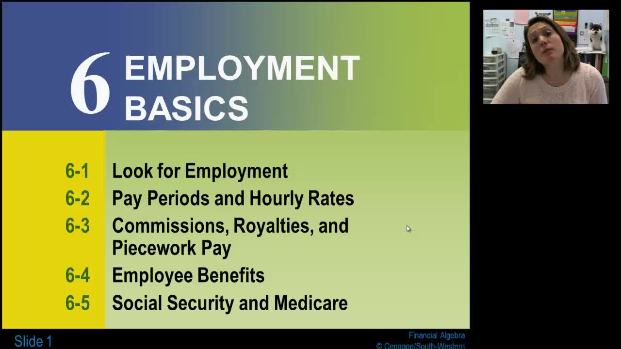 Lesson 6-1: Look for Employment