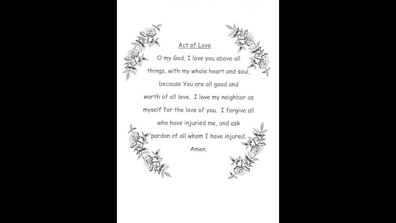 Prayer - Act of Love