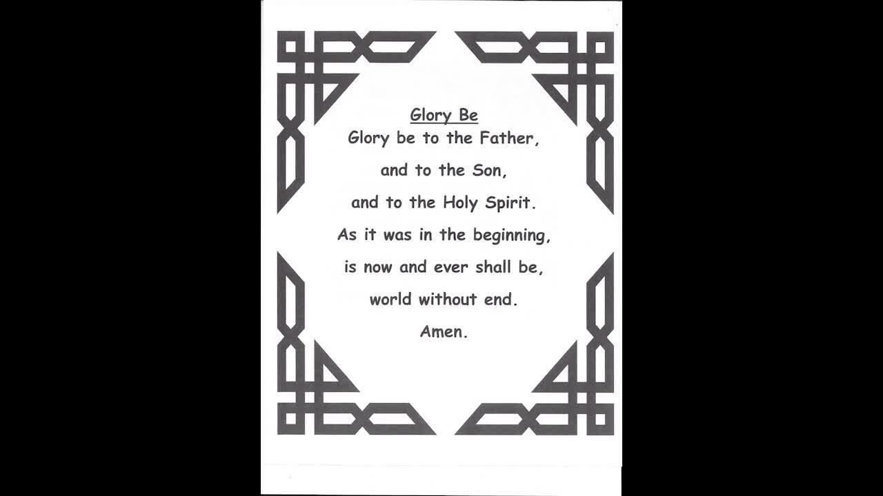 Prayer - Glory Be