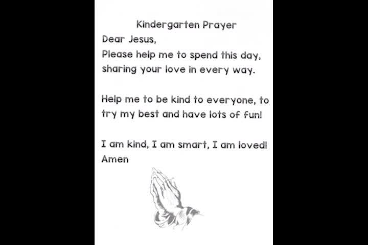 Prayer - Kindergarten Prayer
