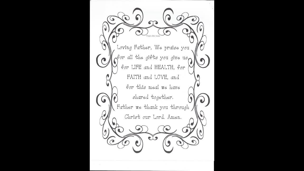 Prayer - Prayer After Meals