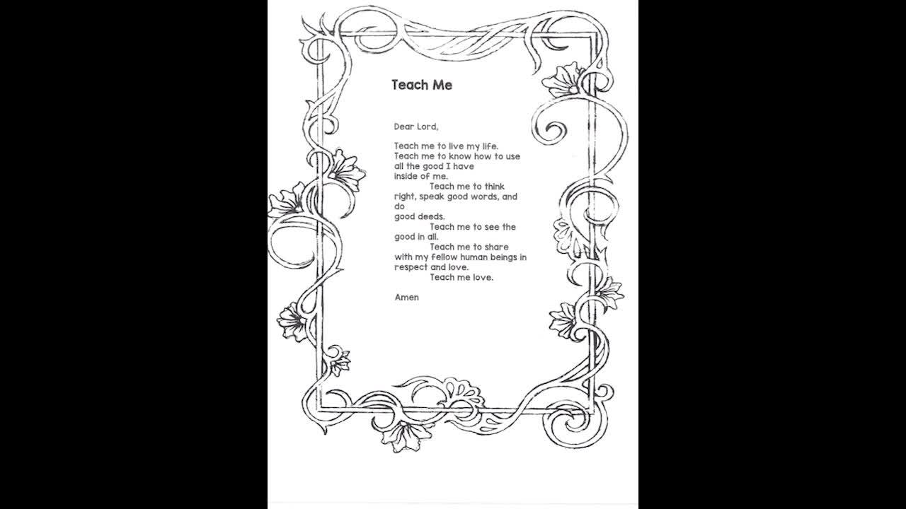 Prayer - Teach Me