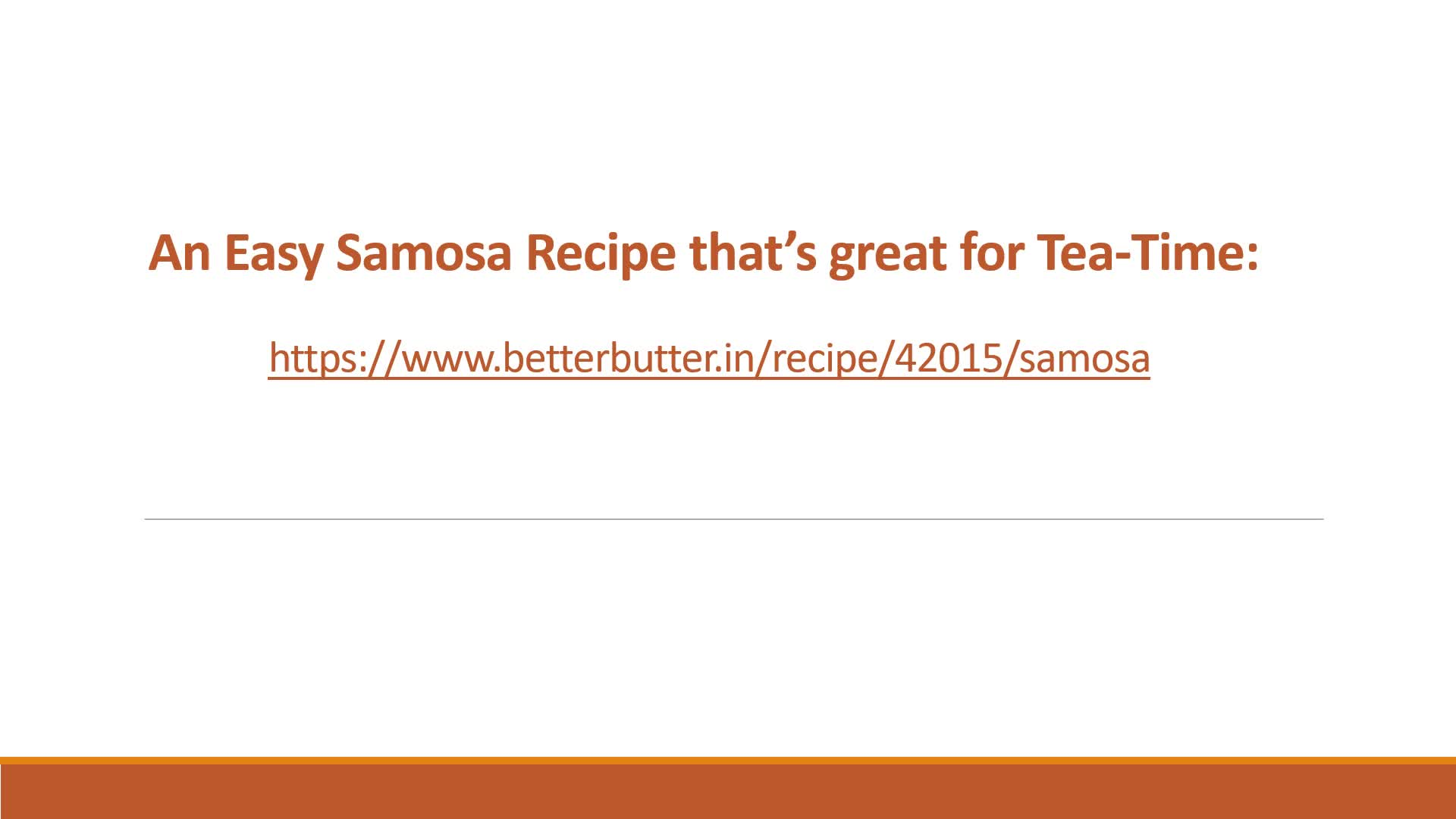 An Easy Samosa Recipe