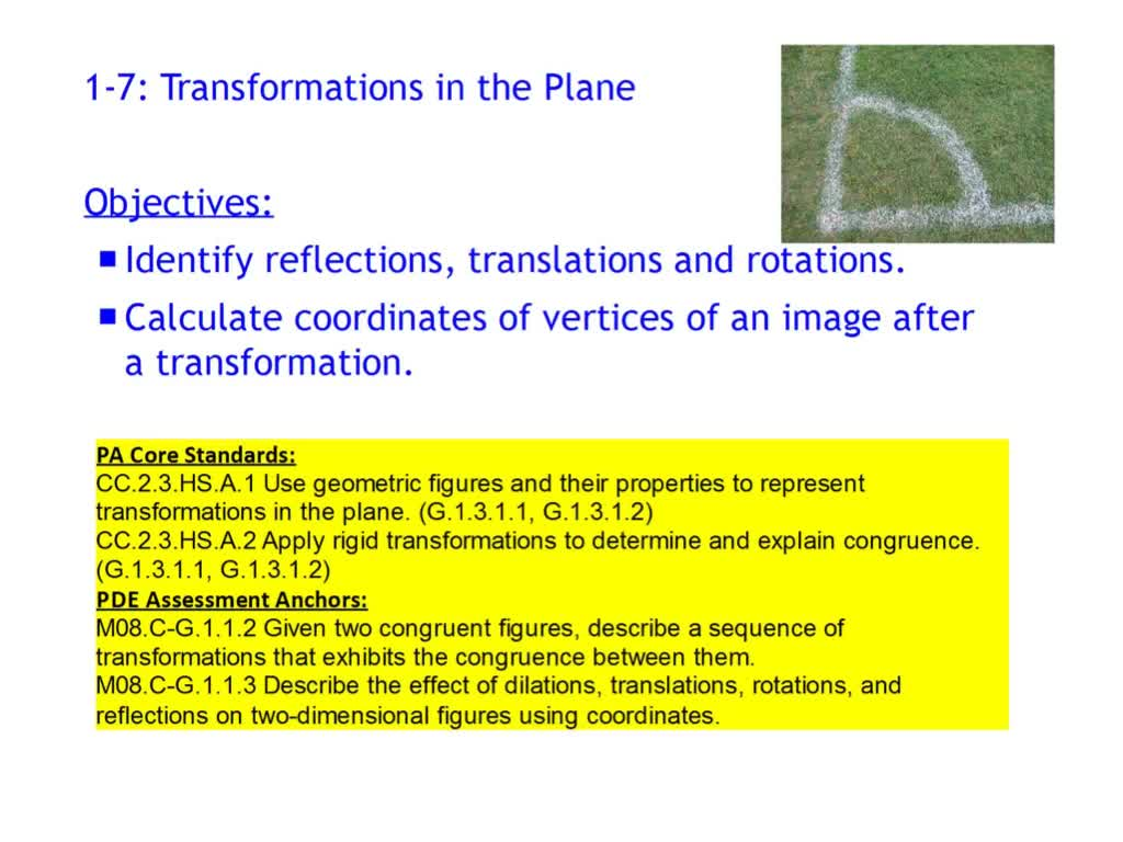 1-7 Transformations in the Plane - Part 1