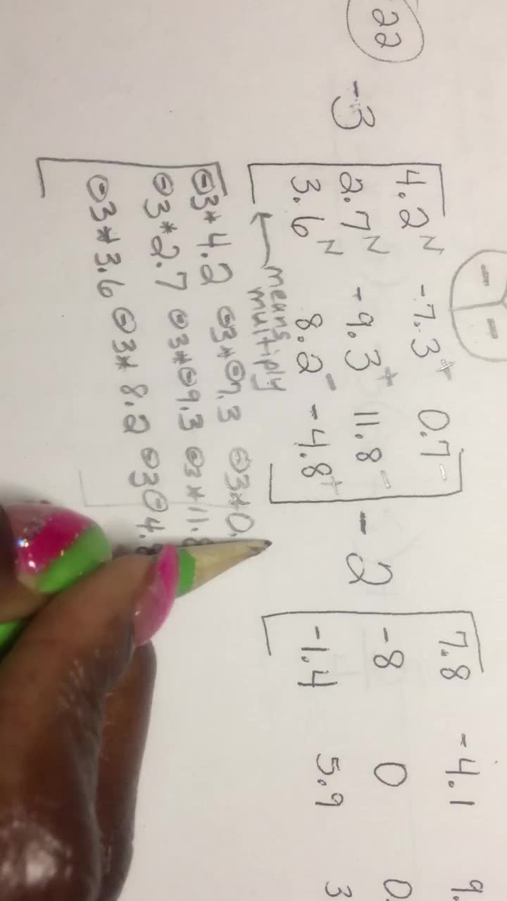 Matrices-Video2of6-Multiply, Add, Subtract