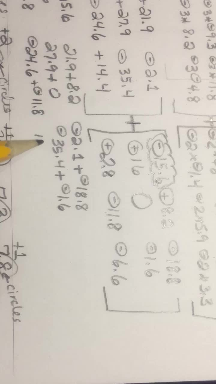 Matrices - Video 6 of 6 - Multiply, Add, Subtract Decimals