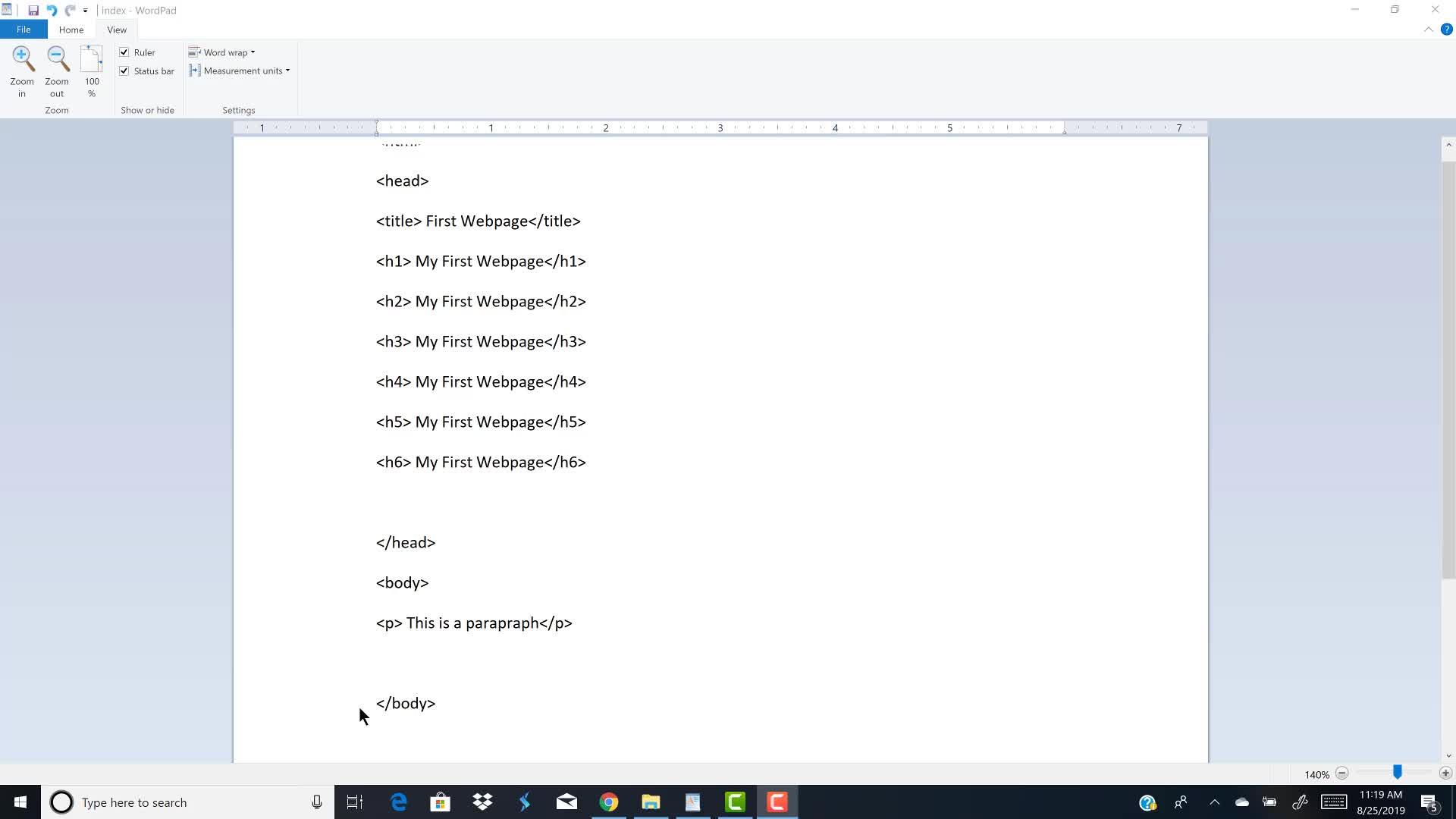 HMTCA  Formatting Paragraph