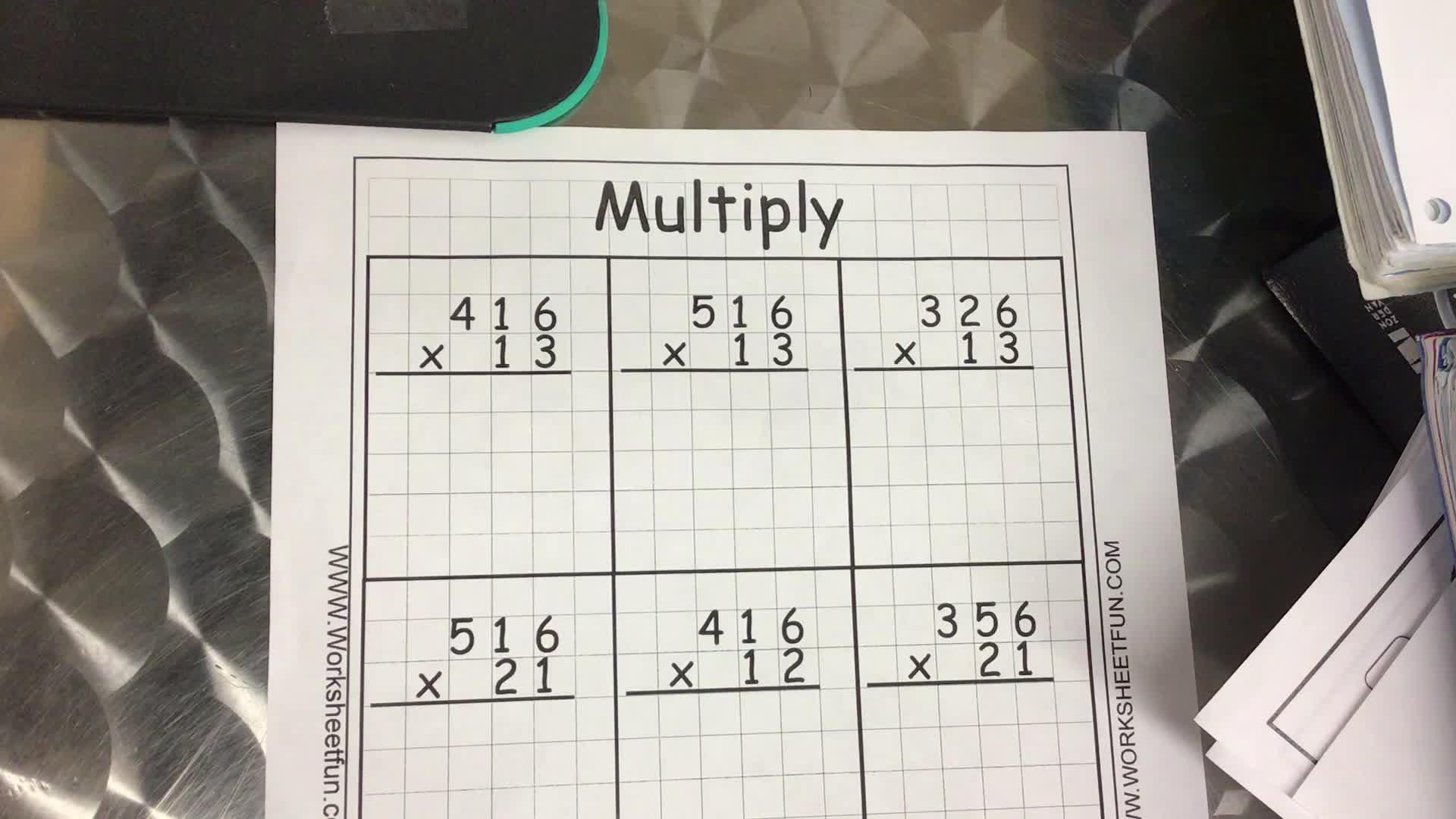2 Digit Multiplication Problem CH. 3.2