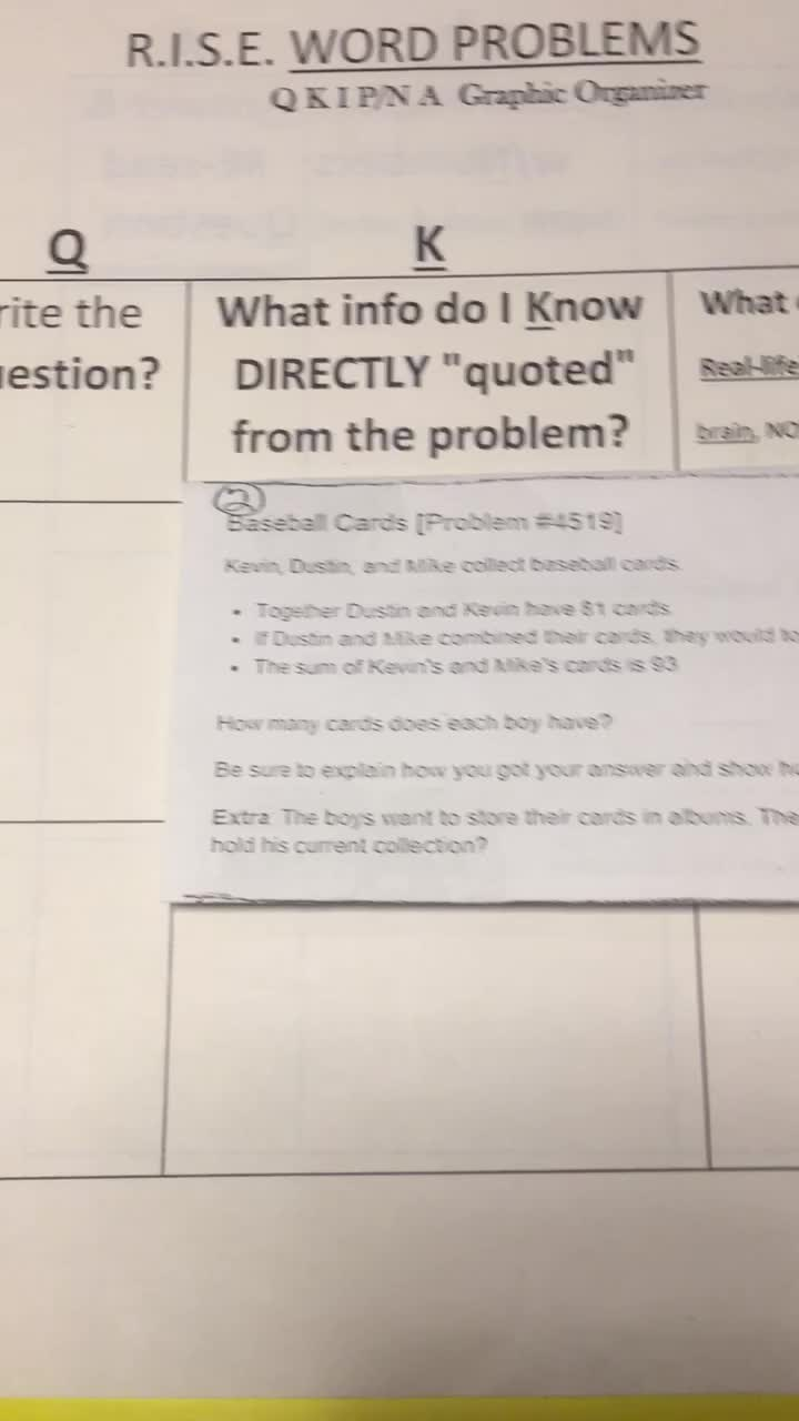 RISE Word Problem#2-Video 1