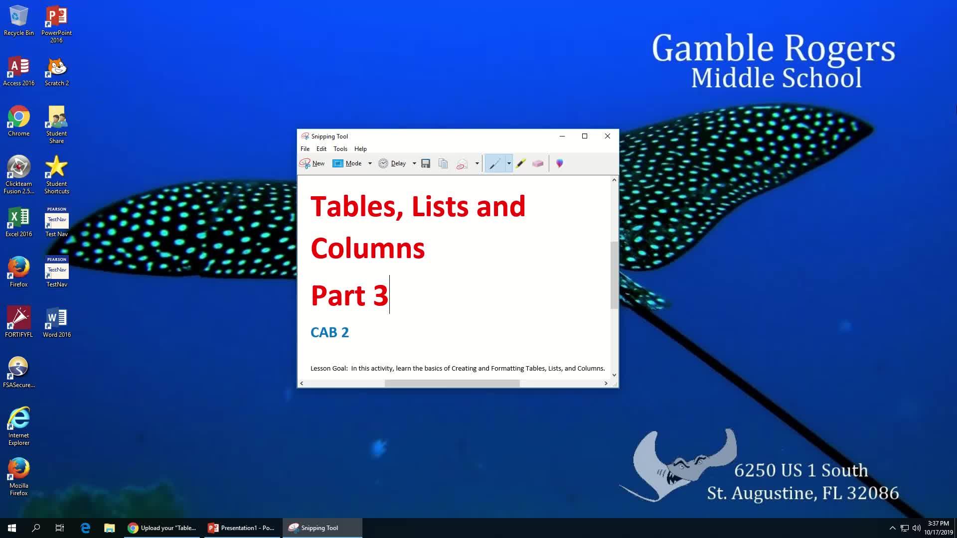 Tables, Lists, Columns Part 3