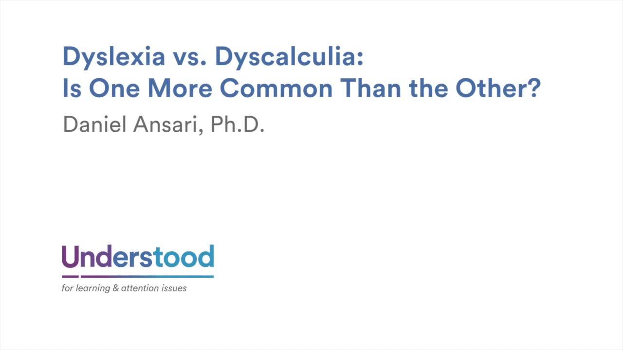 Dyscalculia and Dyslexia