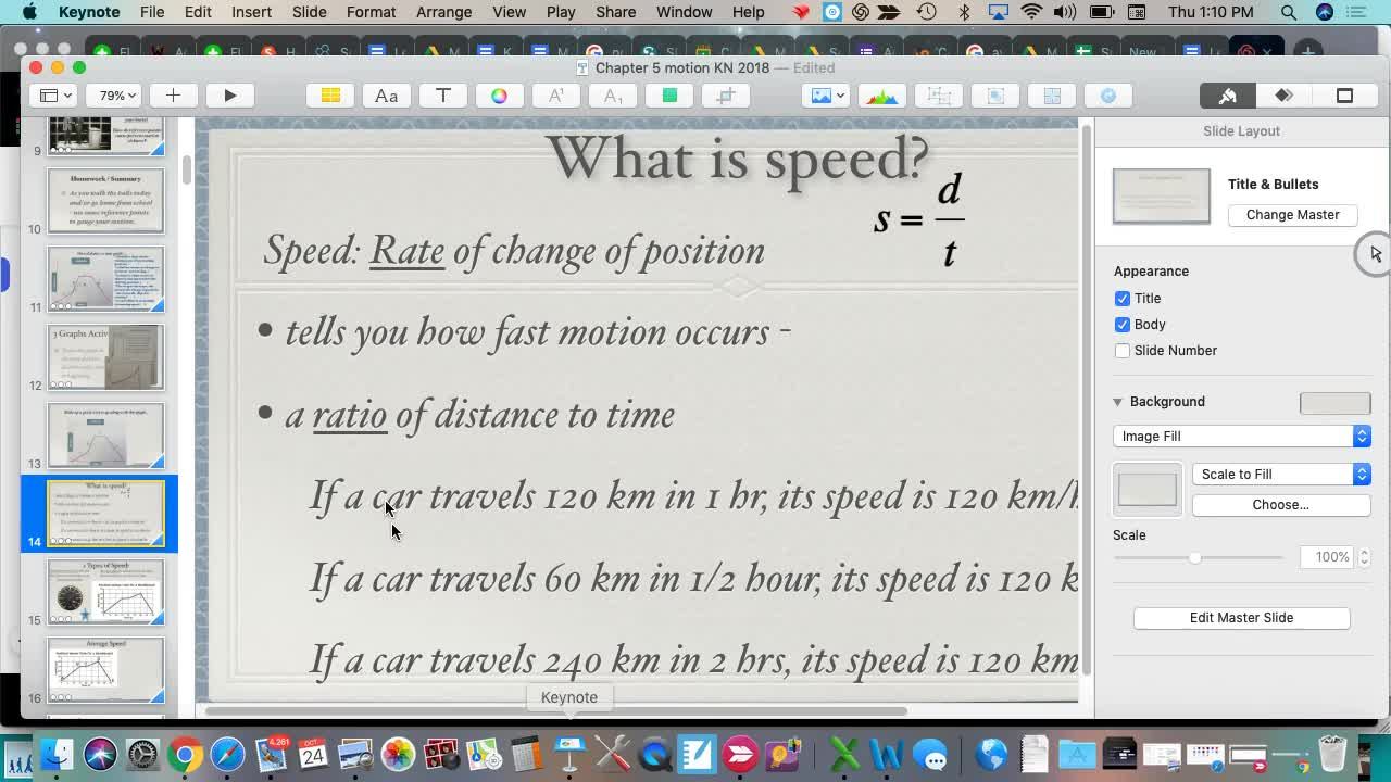 Speed Graphs