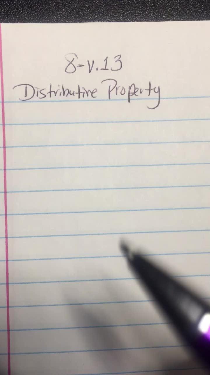 Distributive Property-Video1of2